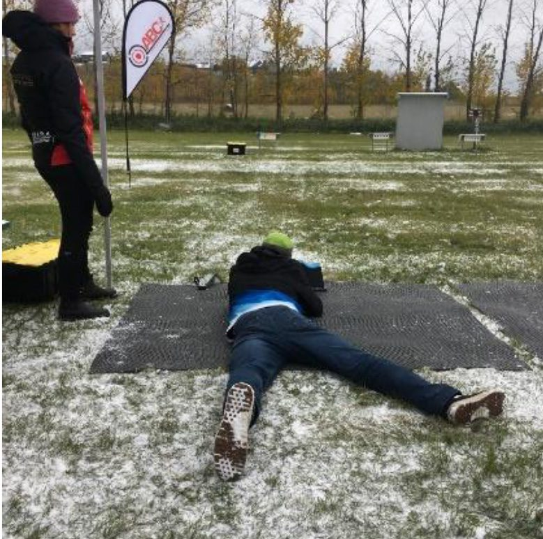 Participants could try their luck at Biathlon Shooting